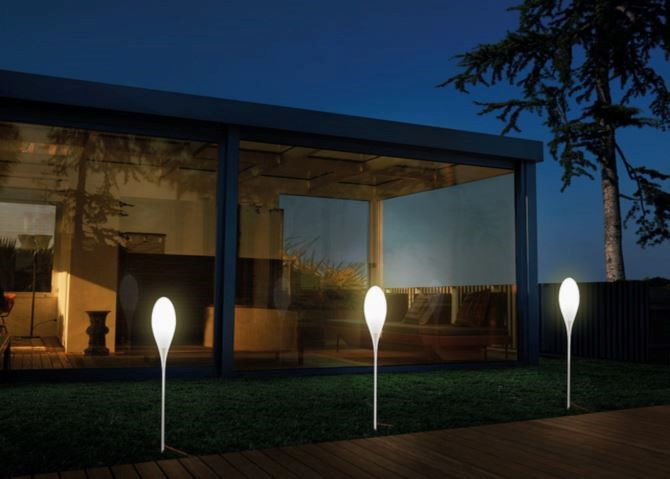 Skyline vivida palo led lampade da giardino lightinspiration